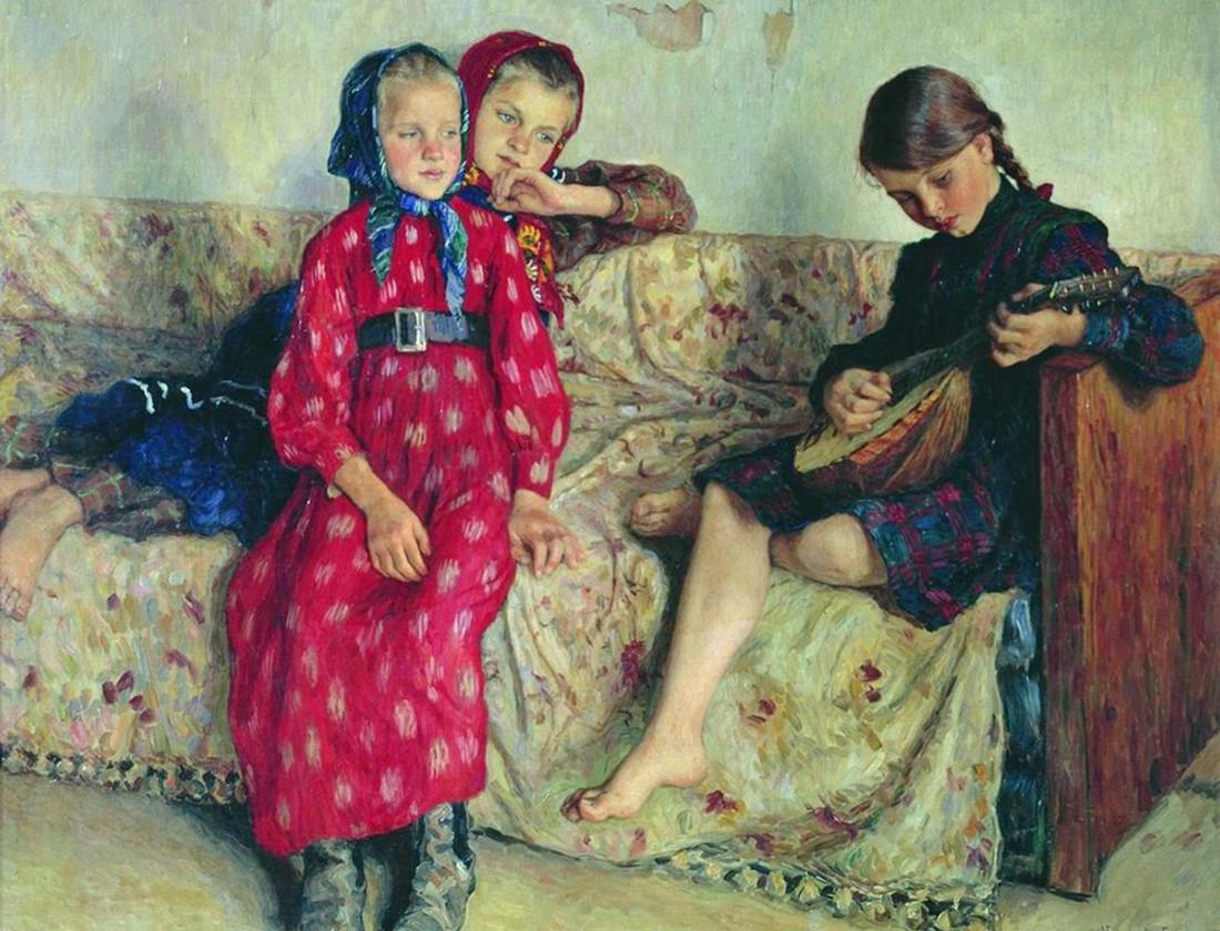 Amigos da aldeia, Nikolai Bogdanov Belski, 1912