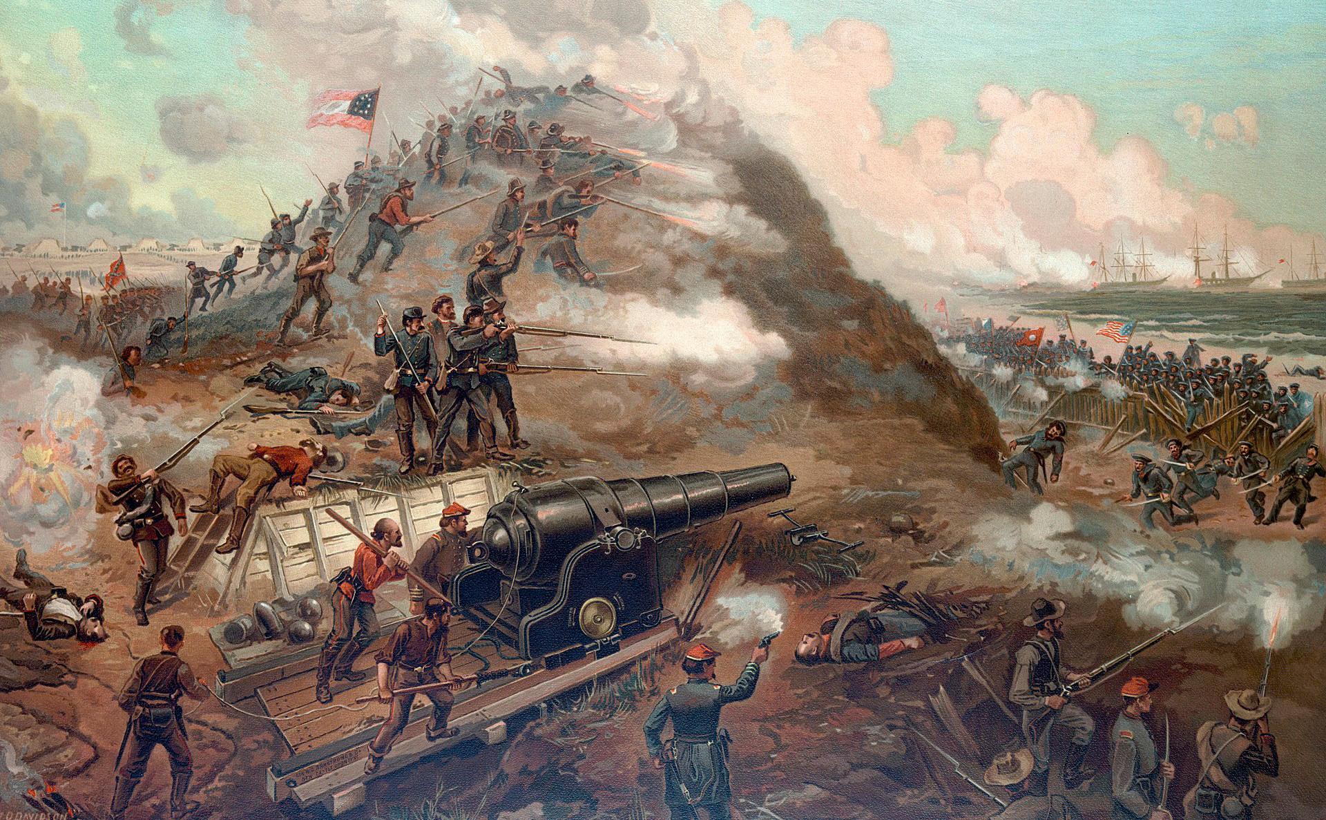Илустрација: Амерички грађански рат.