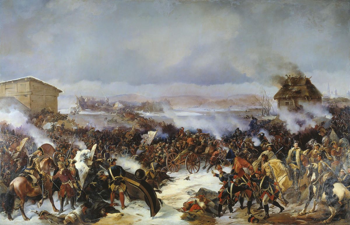 Alexander von Kotzebue. The Battle of Narva on 19 November 1700.