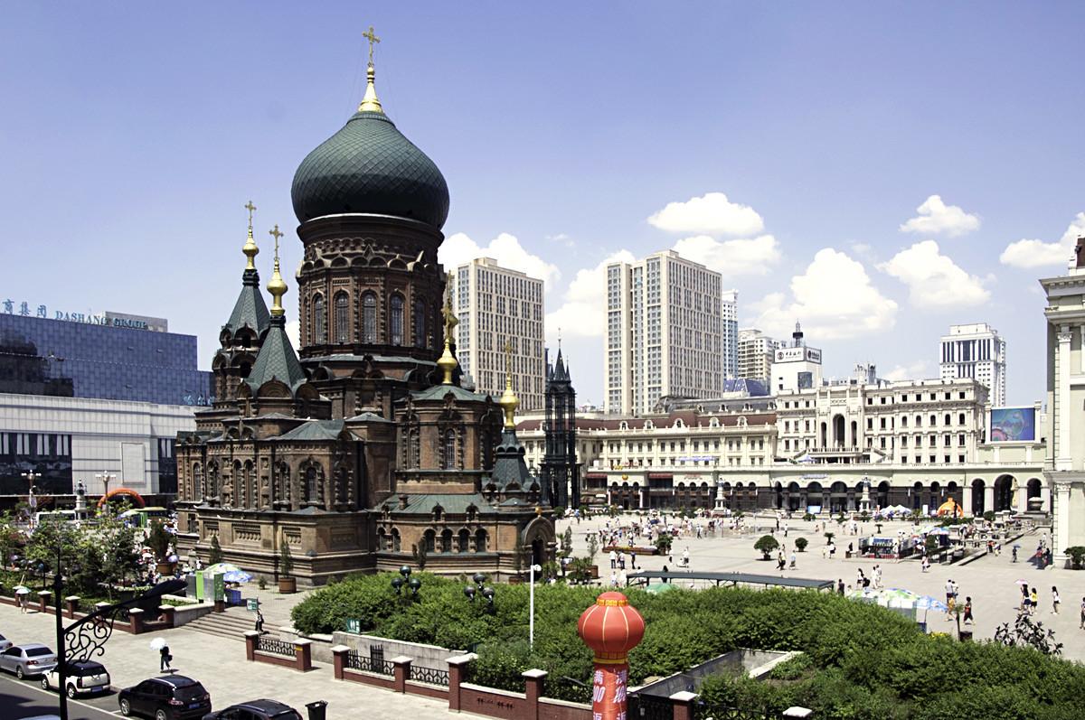 Die im Jahr 1907 erbaute russisch-orthodoxe Sophienkathedrale.