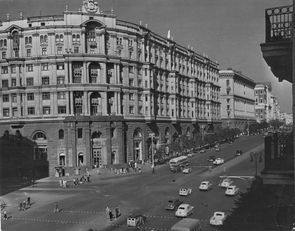 Rue Tverskaïa, Moscou, 1968