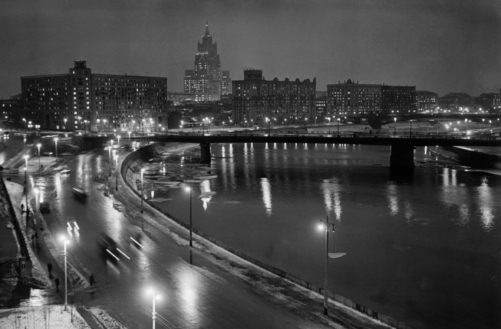 Quais Krasnopresnenskaïa et Smolenskaïa, Moscou, années 1970