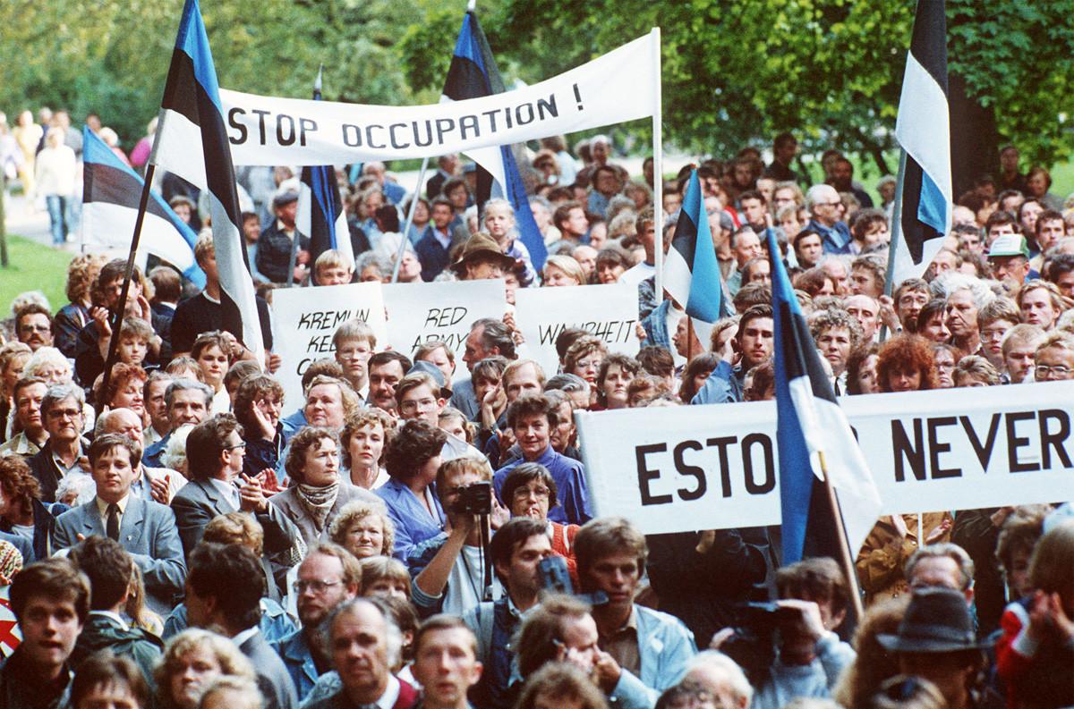 Manifestaciones en Estonia, Tallin, el 23 de agosto de 1989