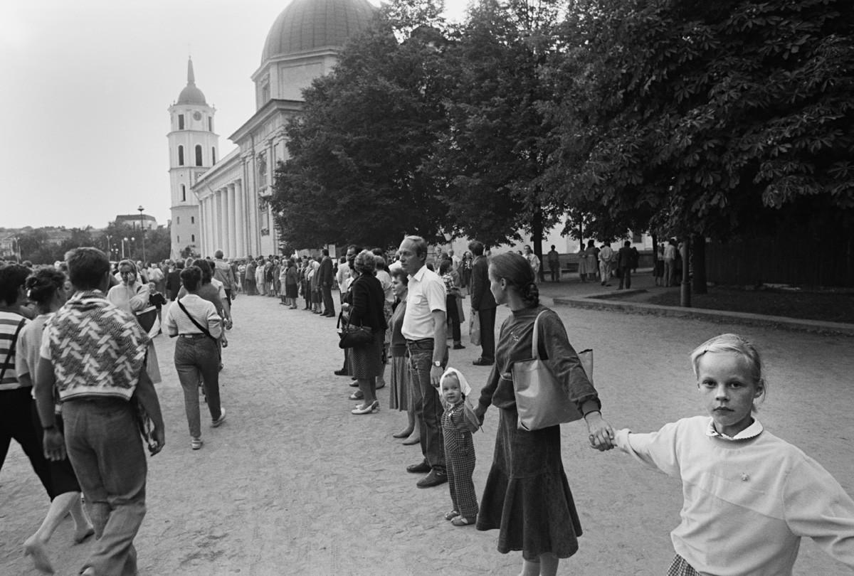 Vilna, Lituania, el 25 de agosto de 1989