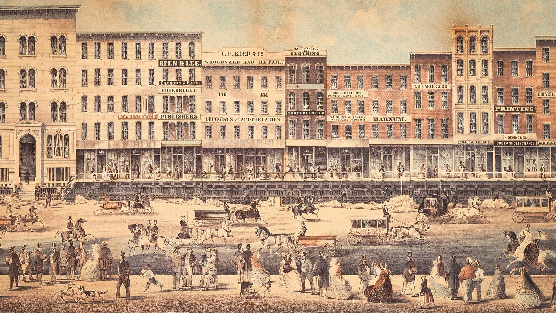 Ilustracija: Grad Chicago,1860-ih.