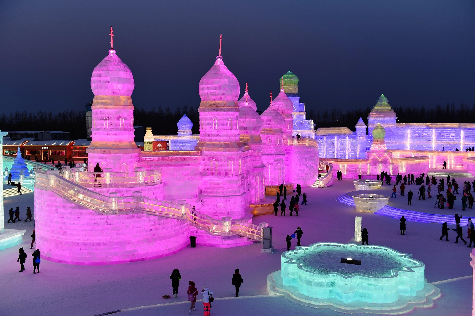Construções russas no Festival Internacional do Gelo e da Neve de Harbin em 2018.