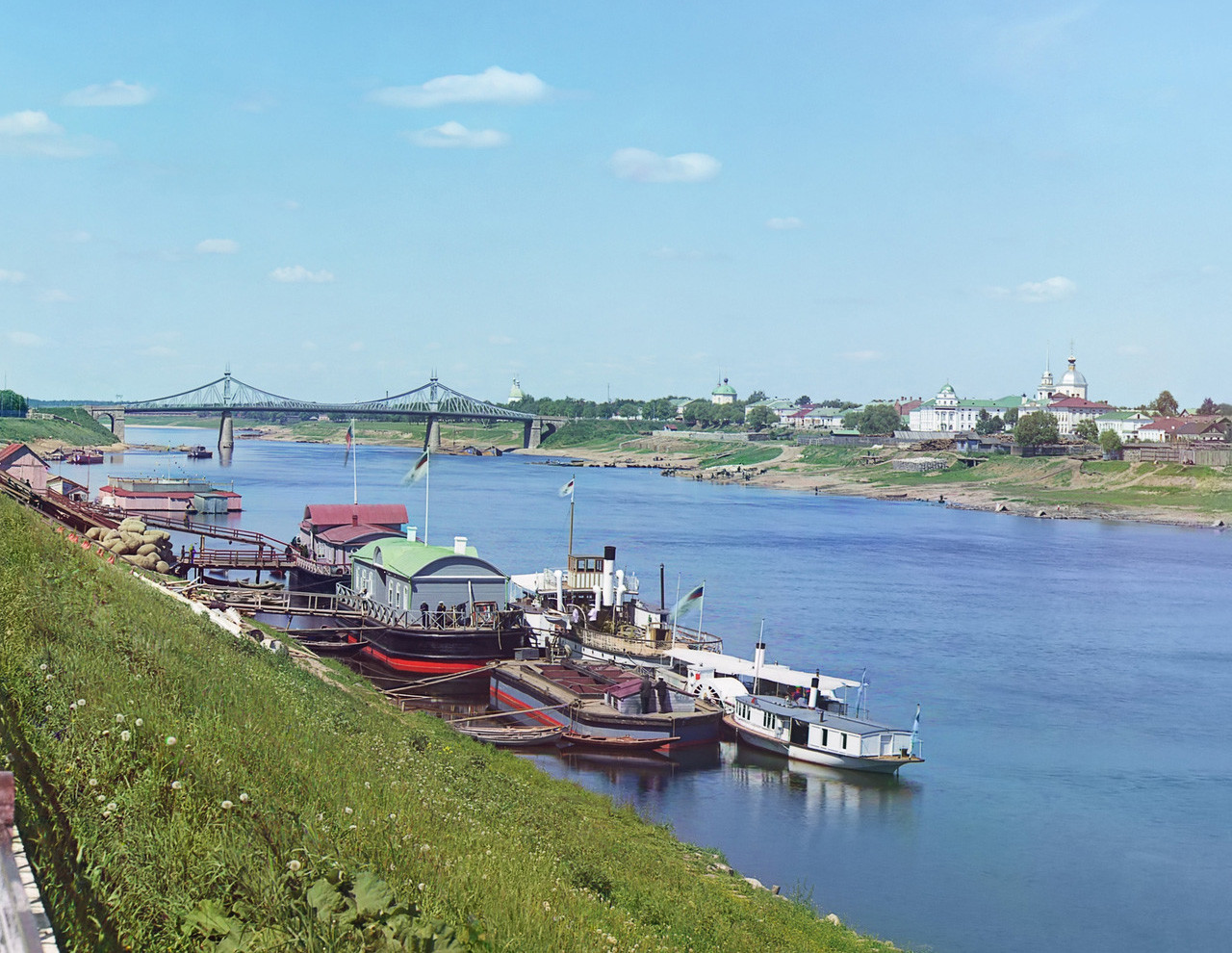 Vista dos rios Tver e Volga
