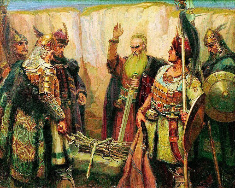 Kan Kubrat y su familia.