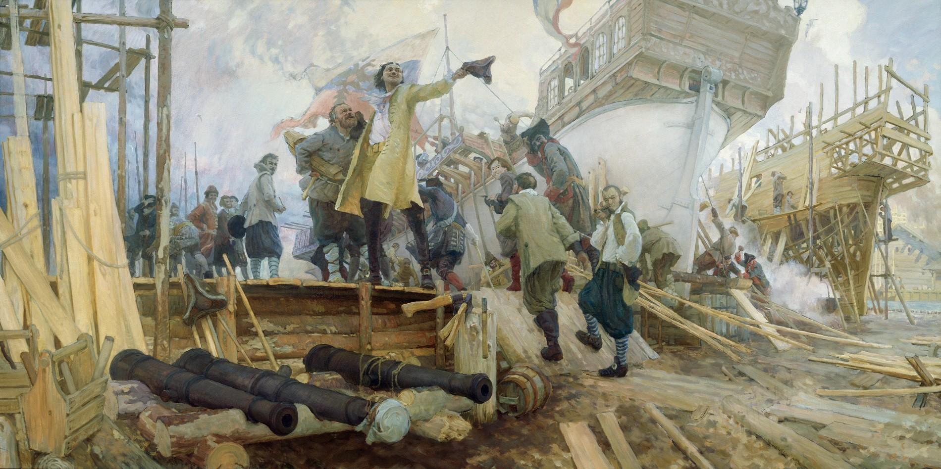 En 1700, el zar Pedro el Grande decidió llevar a su país al mar.