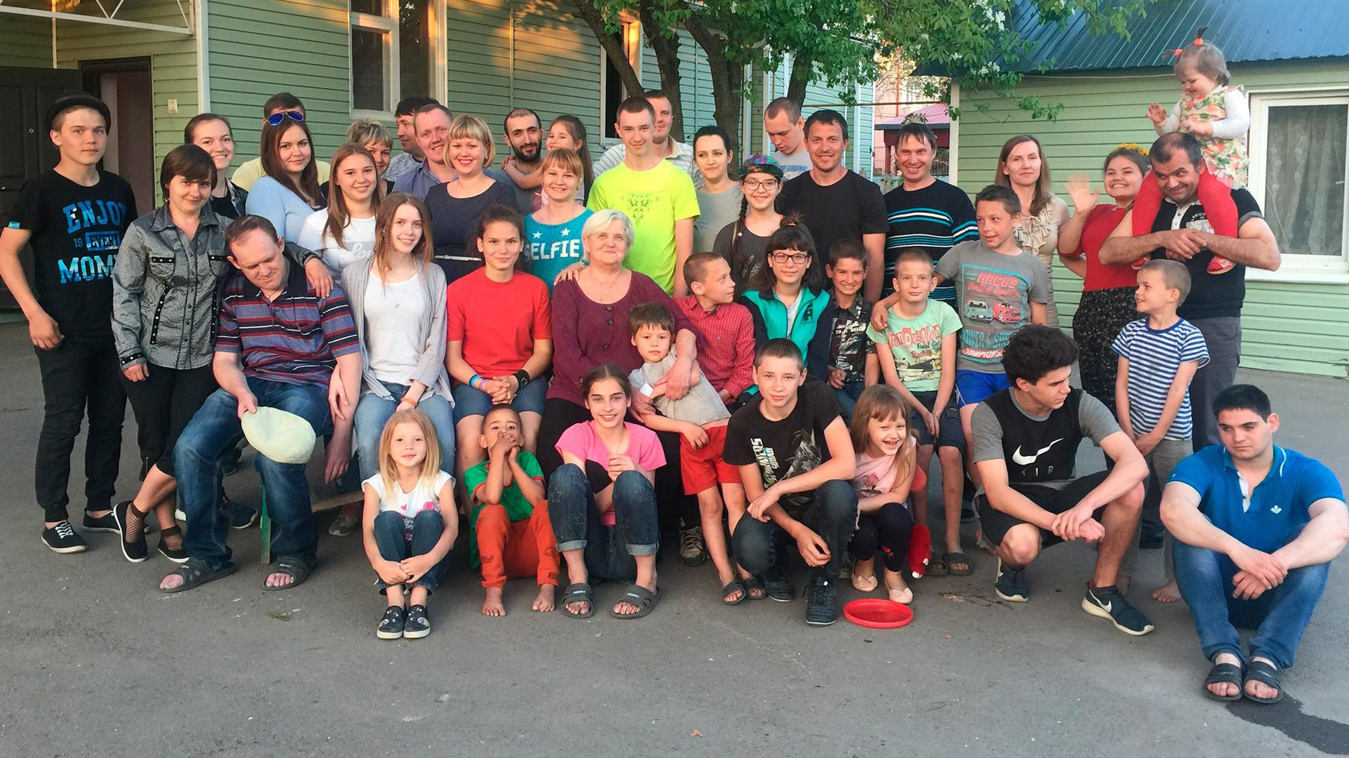 Foto de família em 2018.