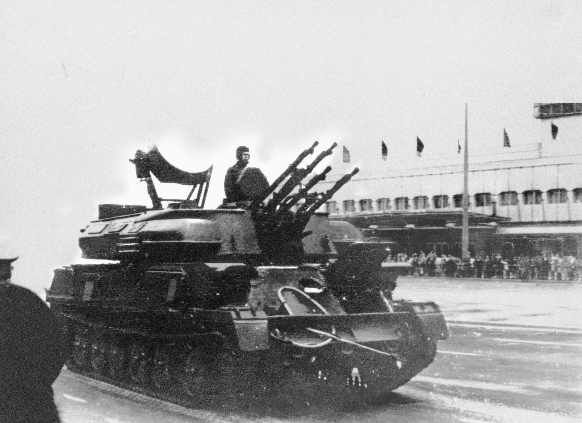 El ZSU-23-4 Shilka en 1977.