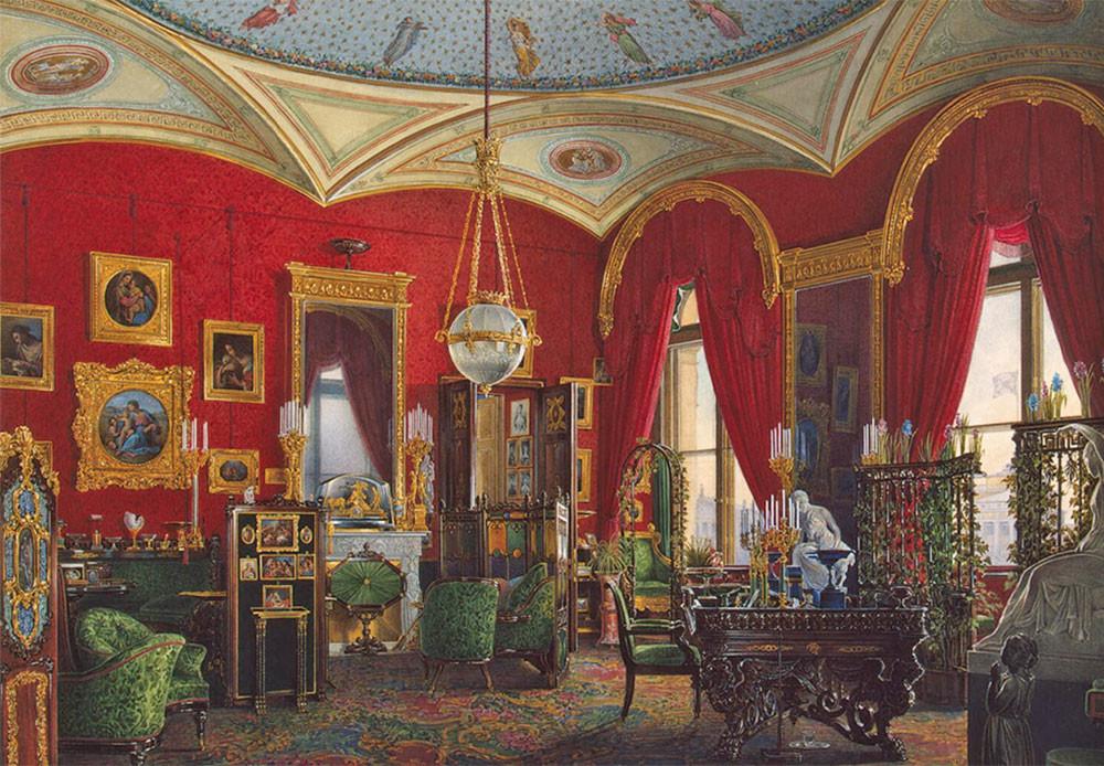 Gabinete de la emperatriz María Fiódorovna.