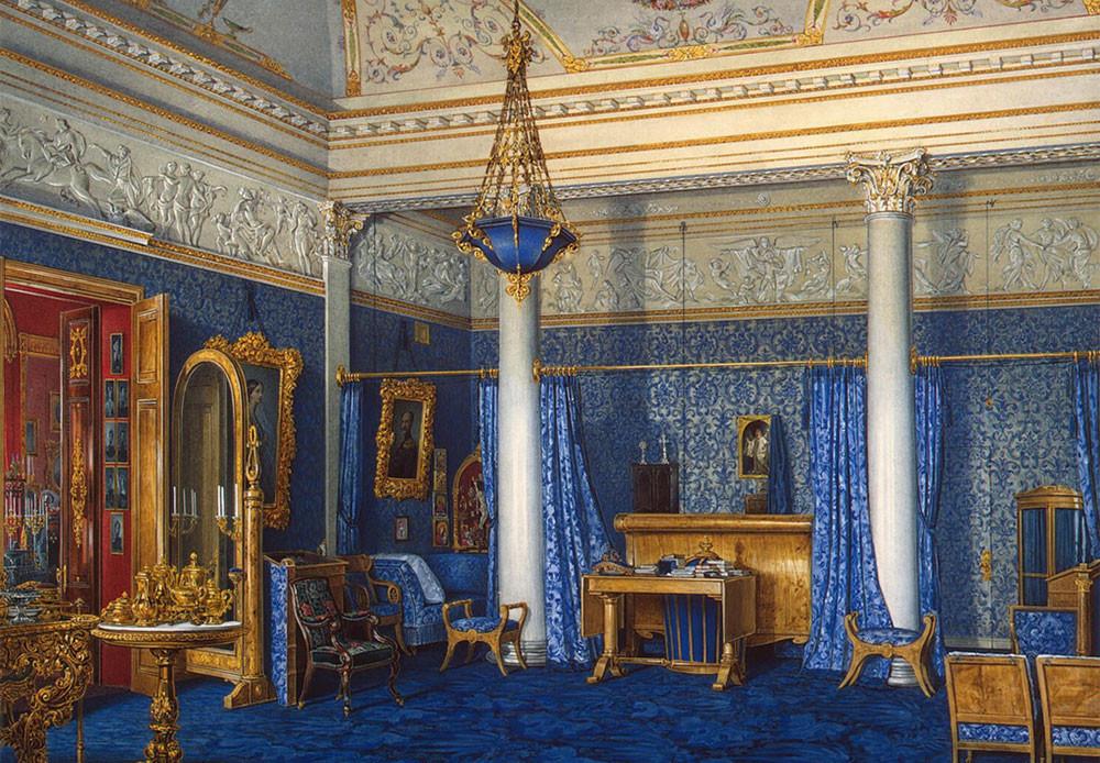 Dormitorio de la emperatriz Alejandra Fiódorovna.