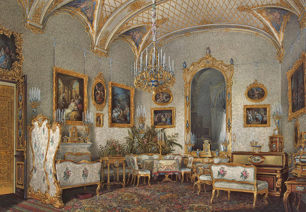 Salón blanco de la emperatriz Alejandra Fiódorovna.