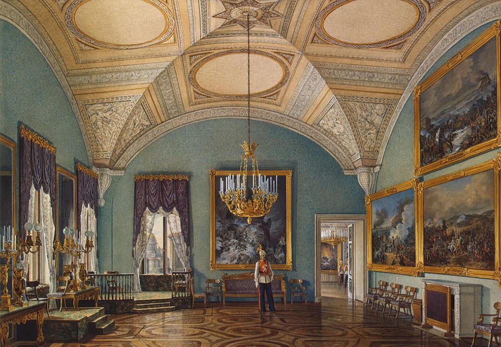 Primera sala de la galería militar.