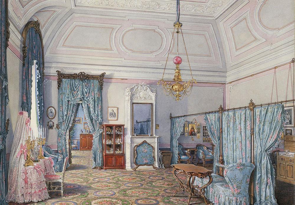 Dormitorio de la gran duquesa María Alexándrovna.