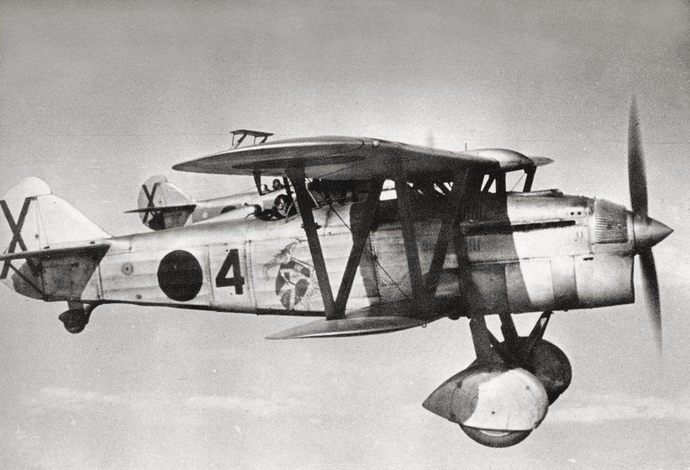 Двойка Fiat C.R.32 от X Балеарска група