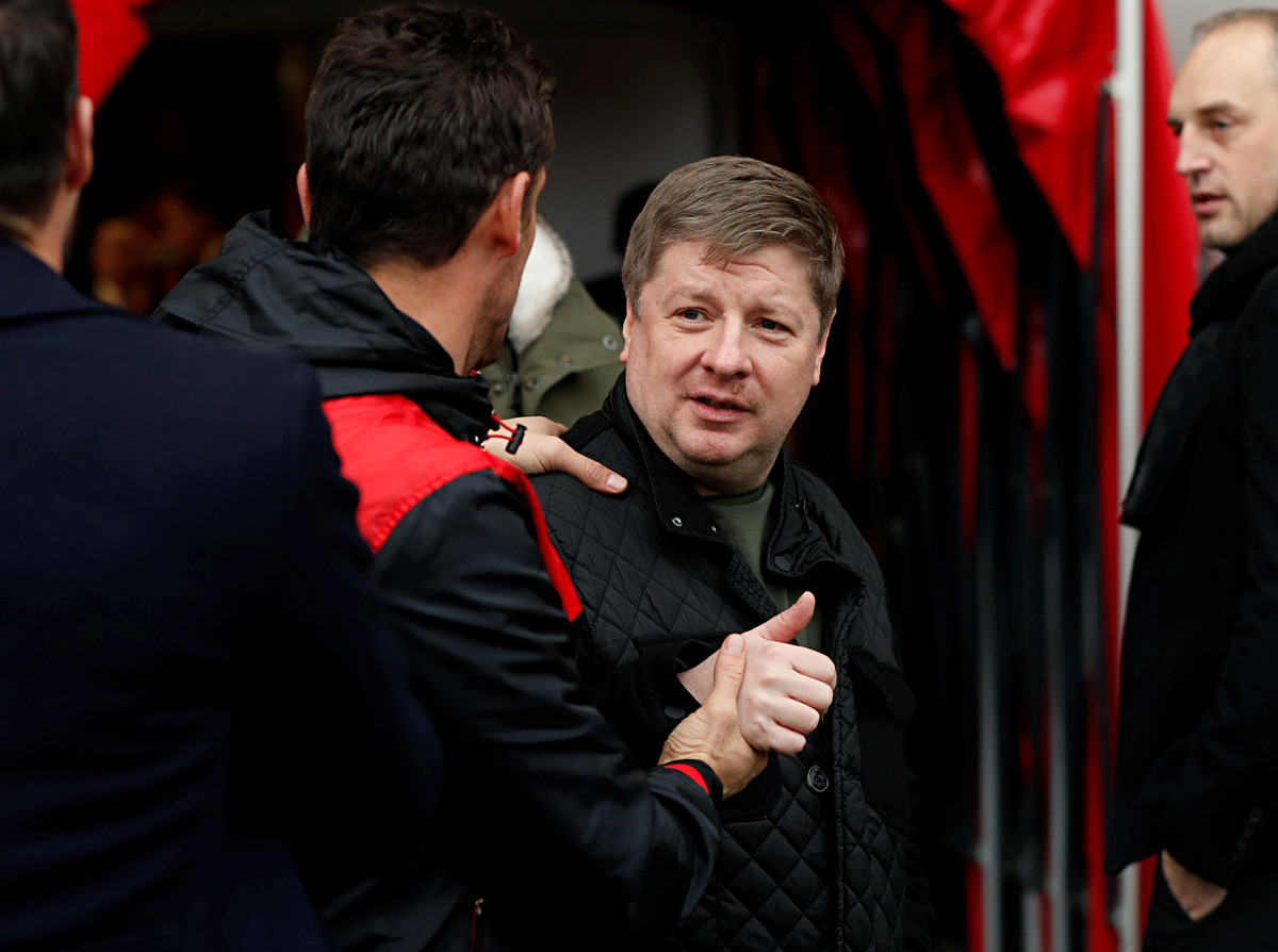 FC Bournemouth co-owner Maxim Demin before the match with Arsenal on January 14, 2018