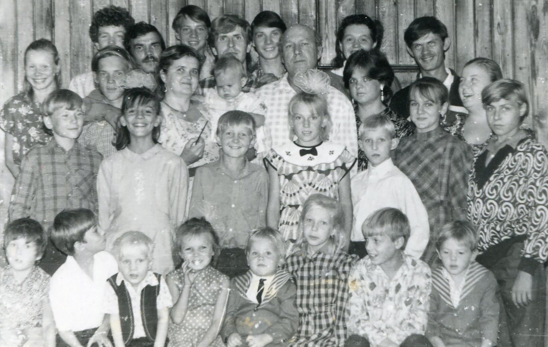 La familia Sorokin en septiembre de 1991.