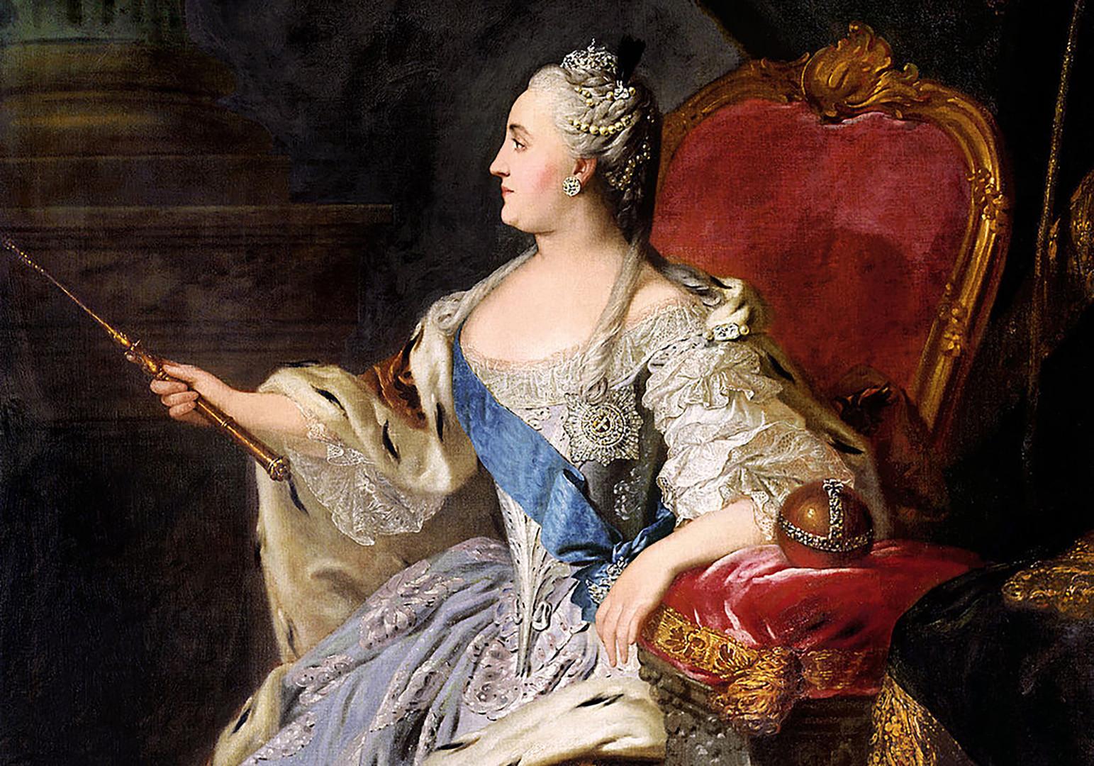 Катарина II. Уметник: Фјодор Рокотов