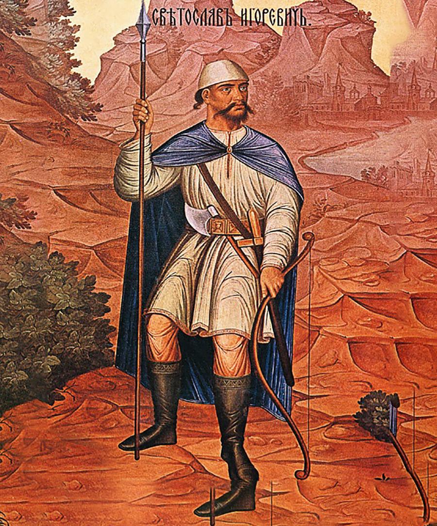 Sviatoslav passou todo seu reinado em constante guerra com os vizinhos da Rus'.