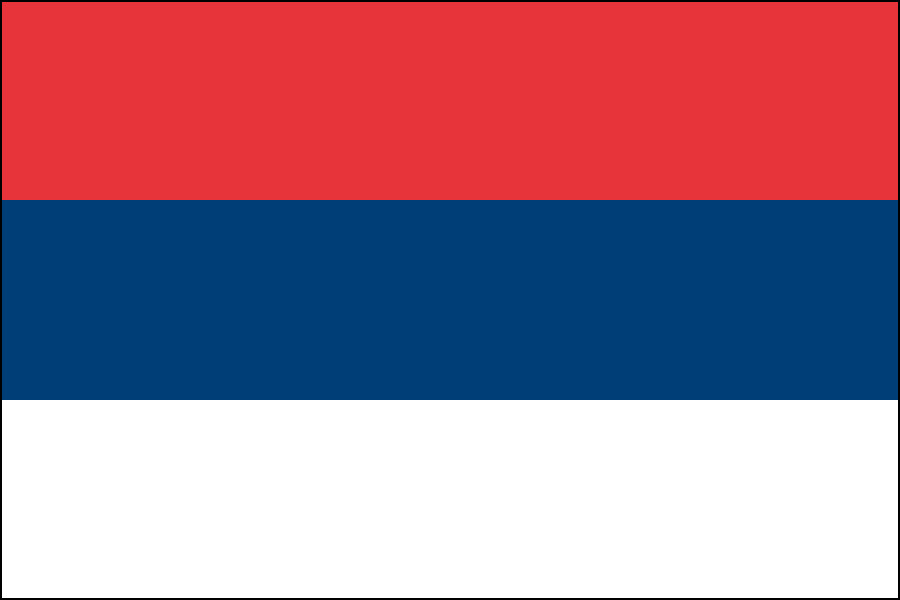 セルビア国旗(1992-2004)
