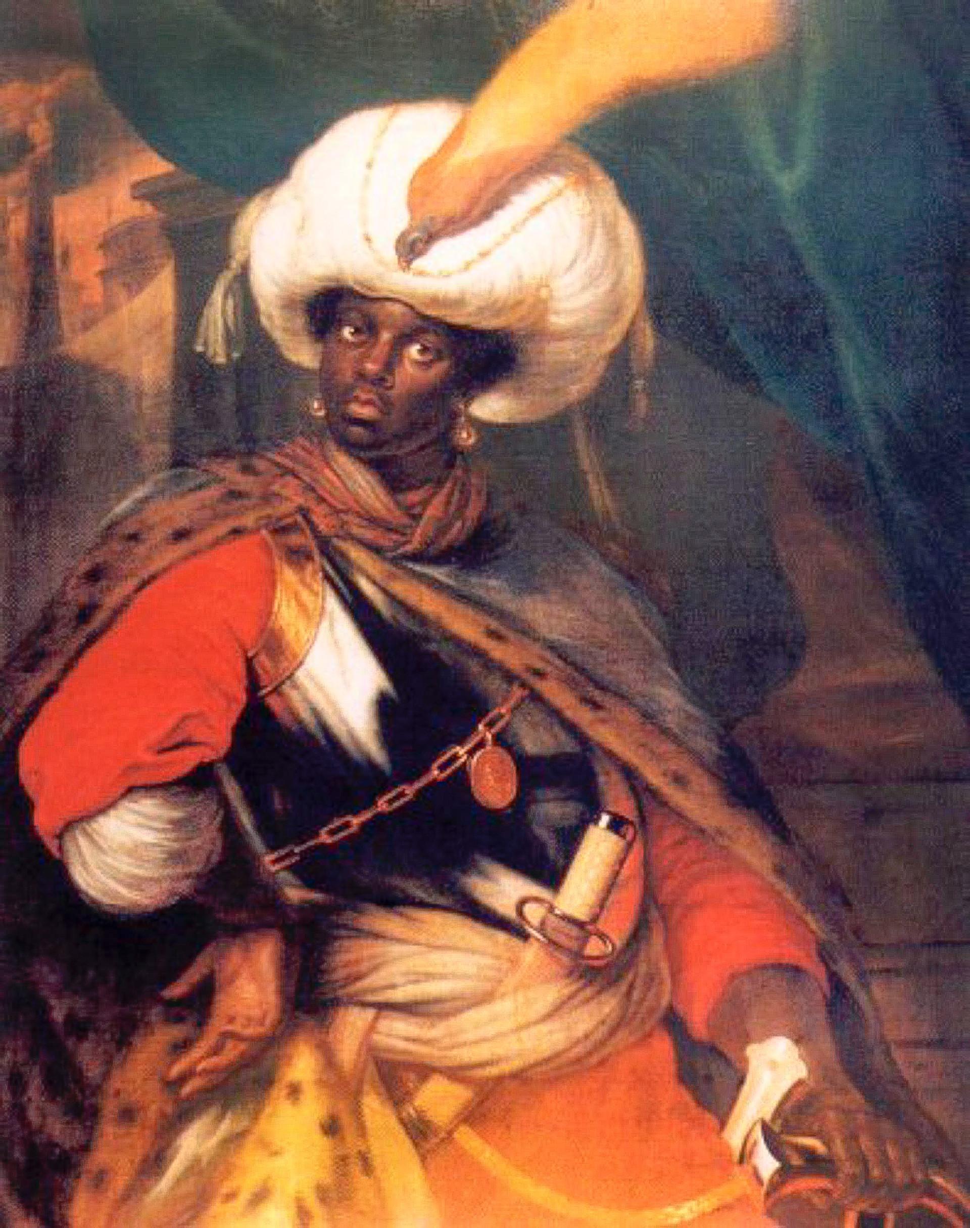 若いアブラム・ガンニバルの肖像画(想定)。