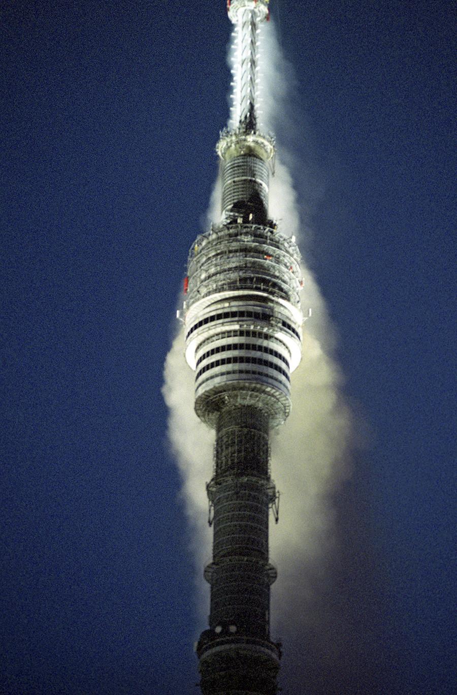 Погасяване на пожара в кулата