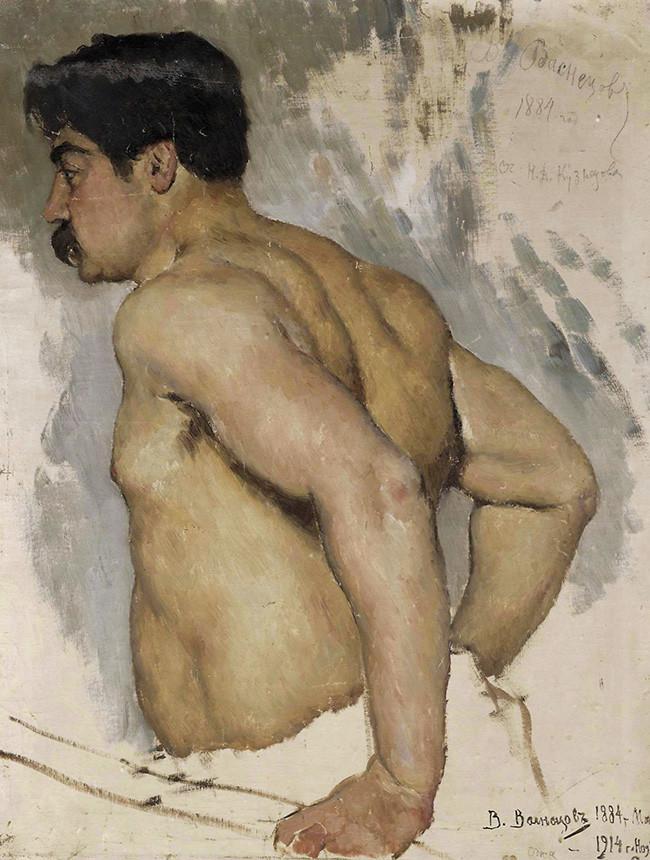 Retrato del artista Nikolái Kuznetsov, 1884.