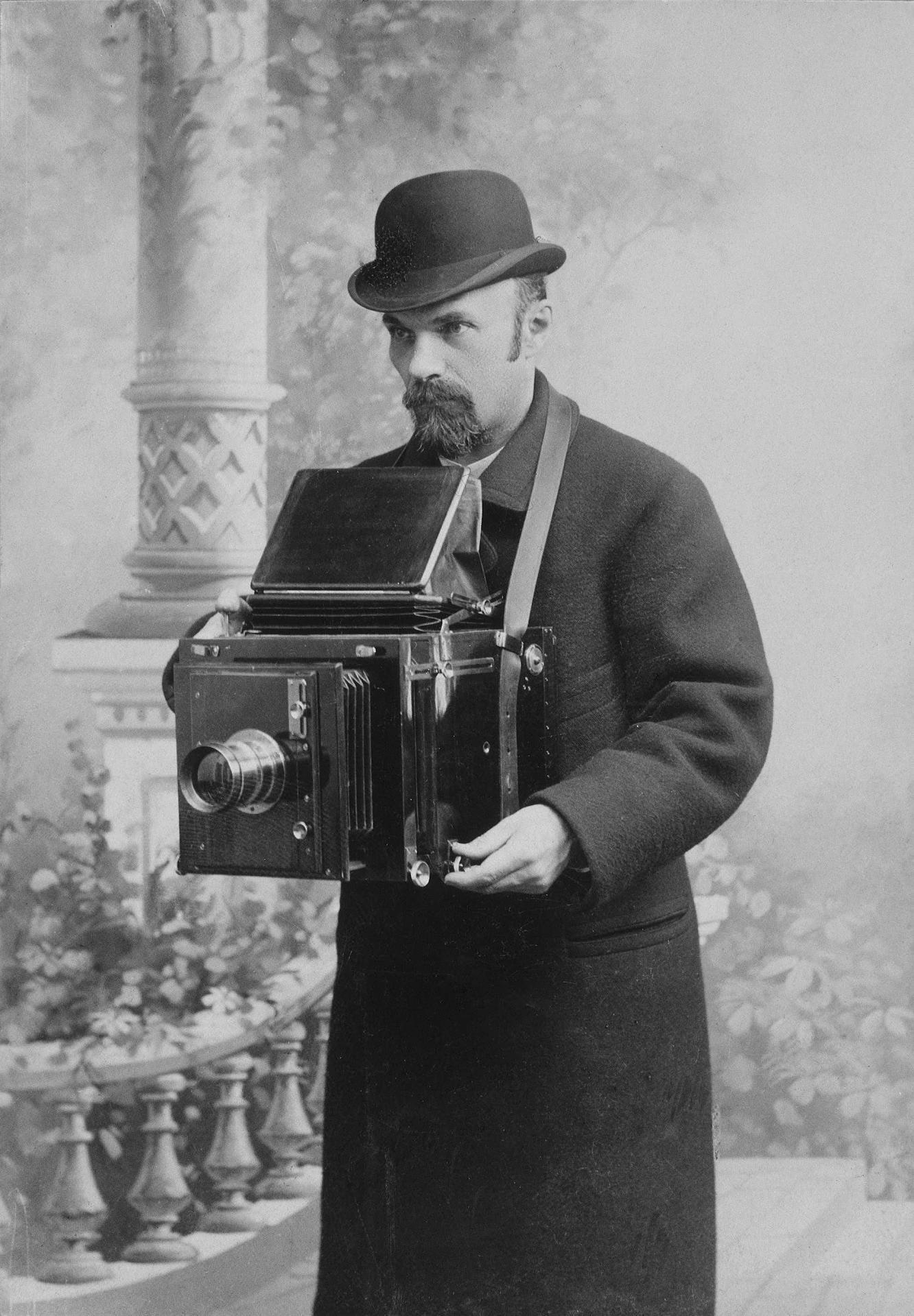 Autorretrato de Carl Bulla, 1917.