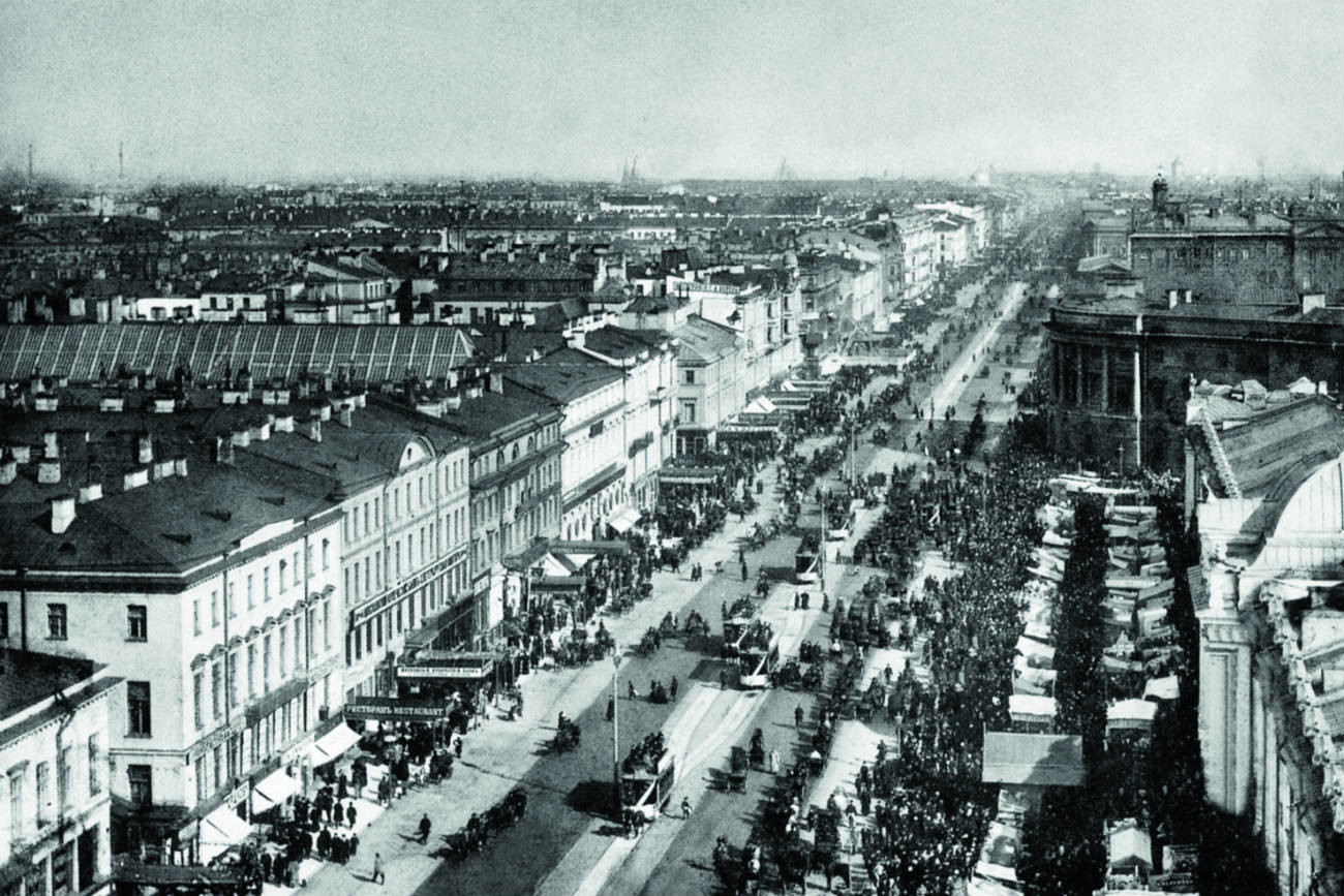 Avenida Nevski, San Petersburgo.