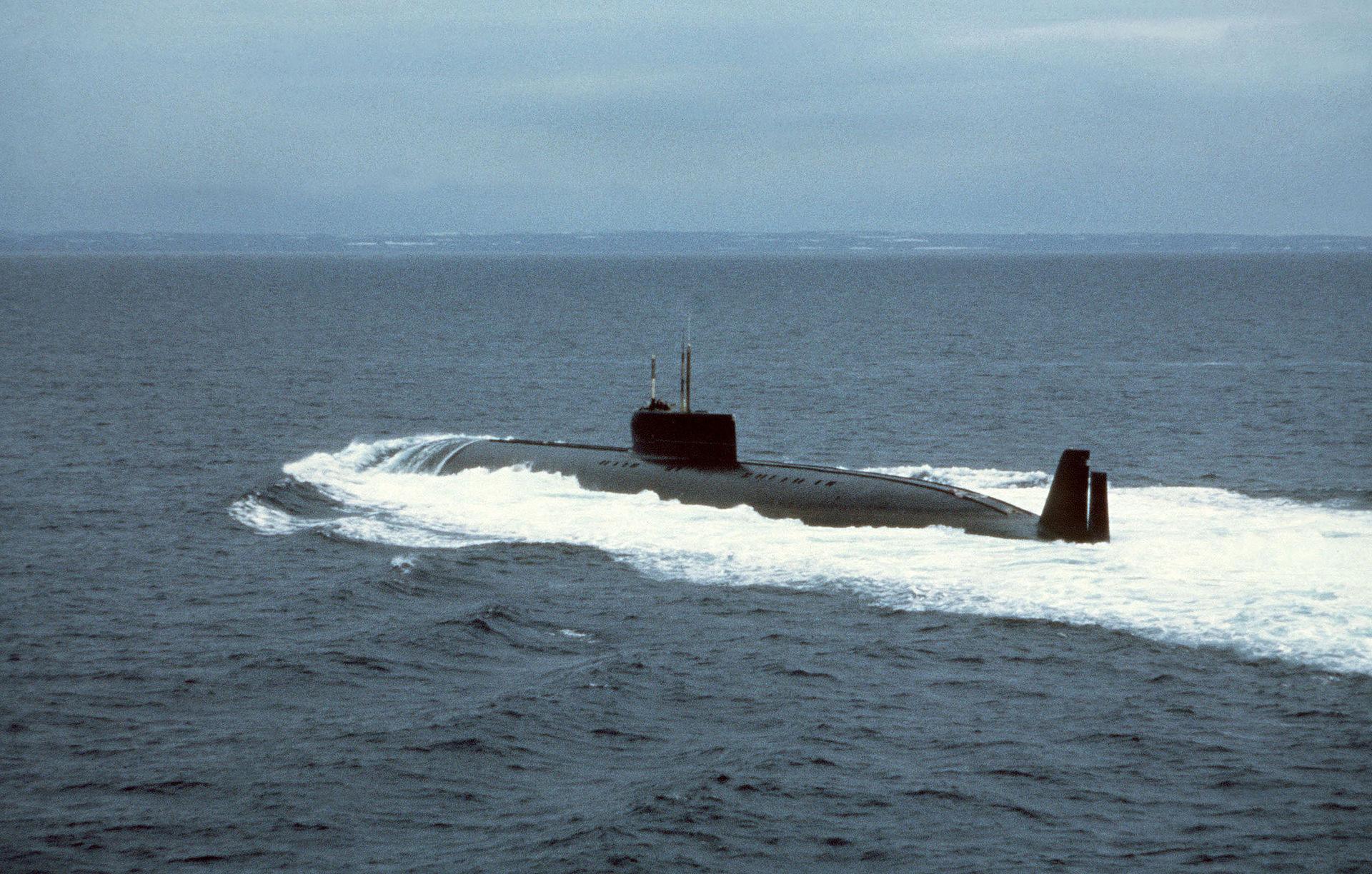 Подморницата К-162 на тестирањето
