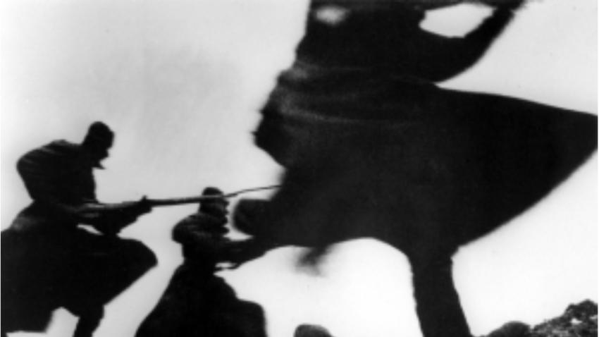 Zima, 1941. Sovjetski vojaki v protiofenzivi na vzhodni fronti.