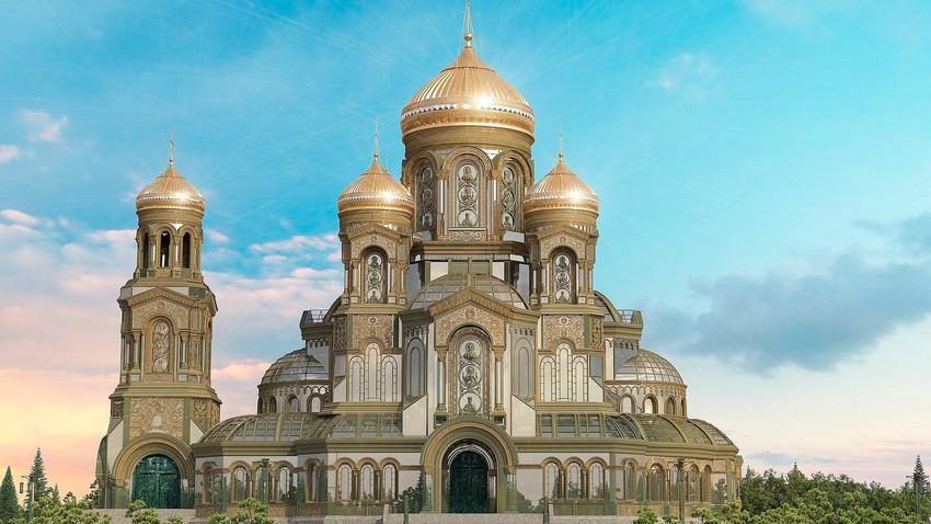 Seperti inilah gereja baru itu akan dibangun.