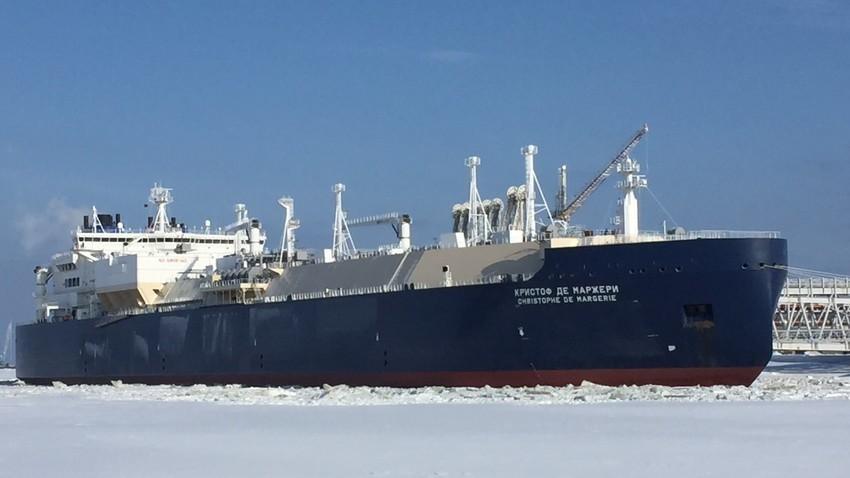 """Рускиот танкер од класата Arc 7 """"Кристоф де Маржери"""""""