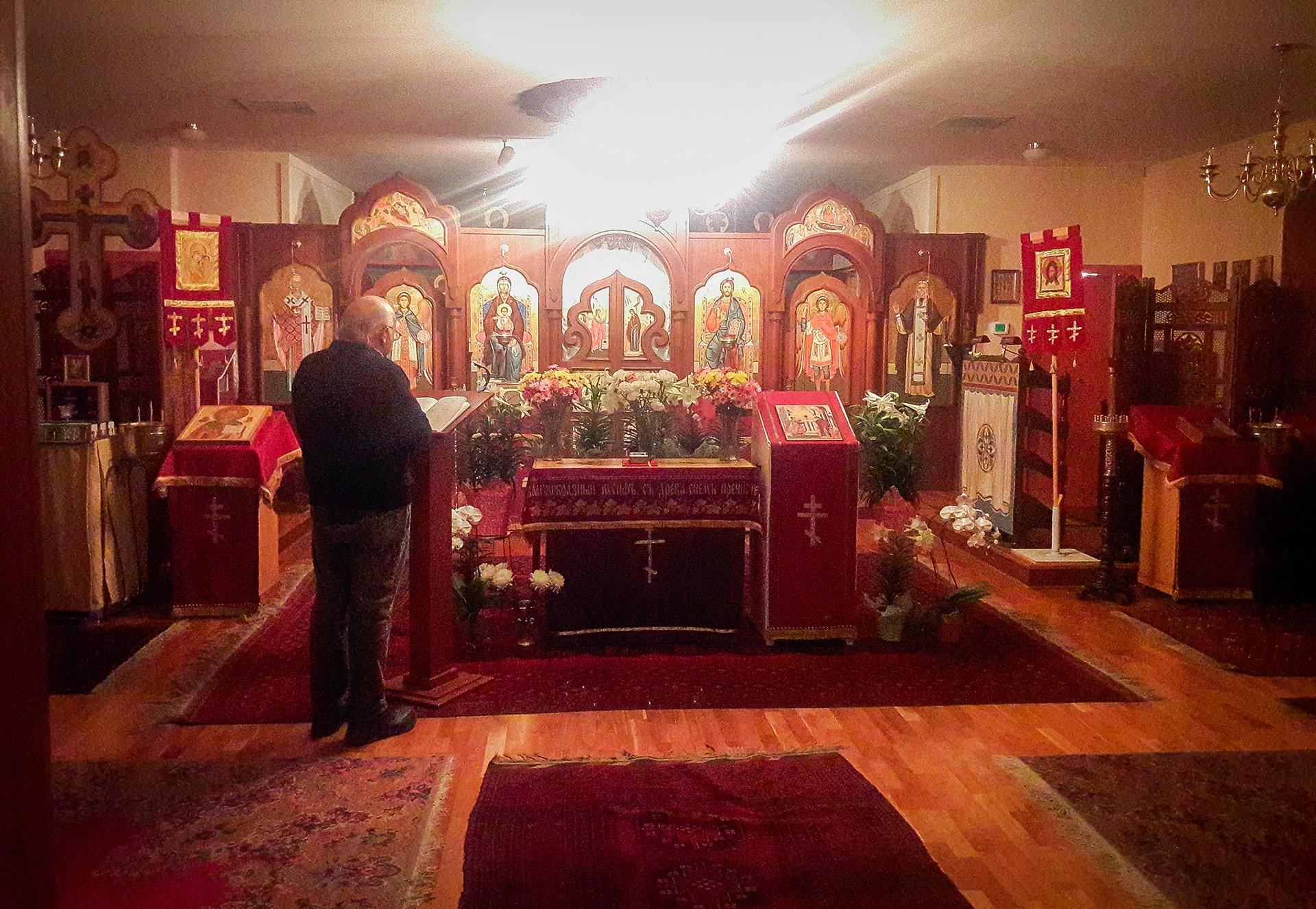 Овогодишњи Васкрс. Читање Псалтира у храму.