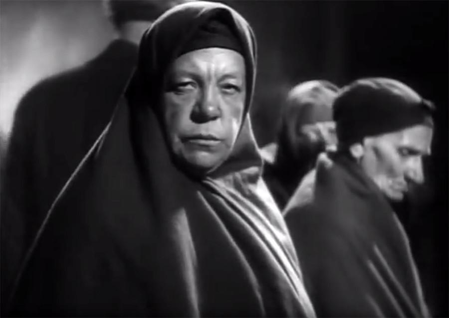 """Cena do filme """"Groza"""" (em tradução livre, 'Tempestade'), de 1933."""