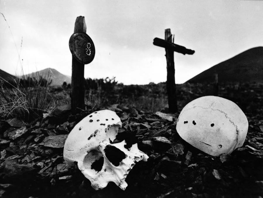 Cemitério da gulag de Kolimá.