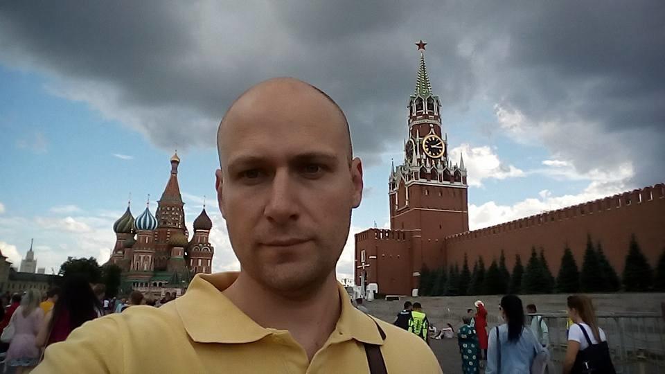 Дарко Несторов на Црвениот плоштад во Москва