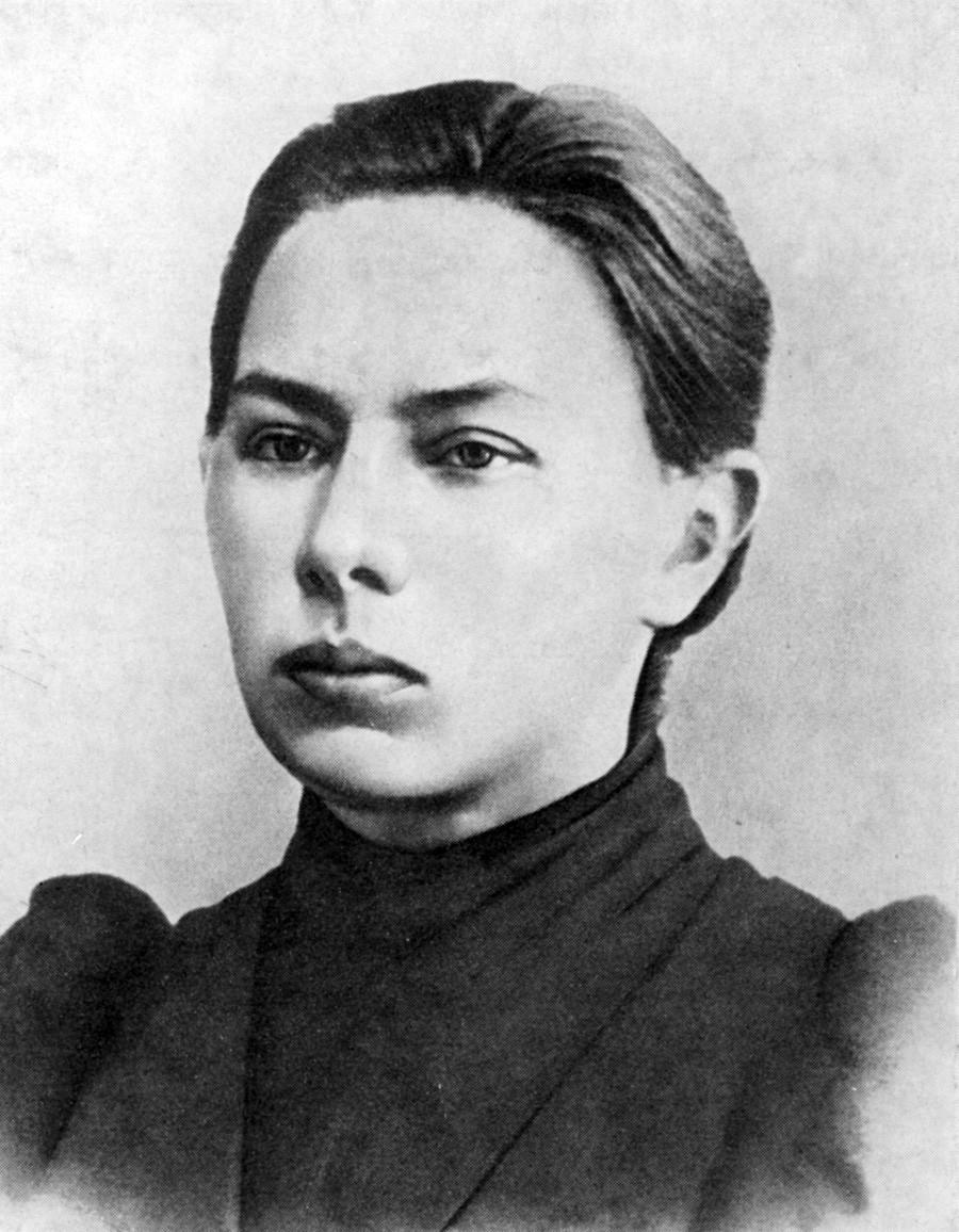 Nadezhda Krúpskaia de jóven.