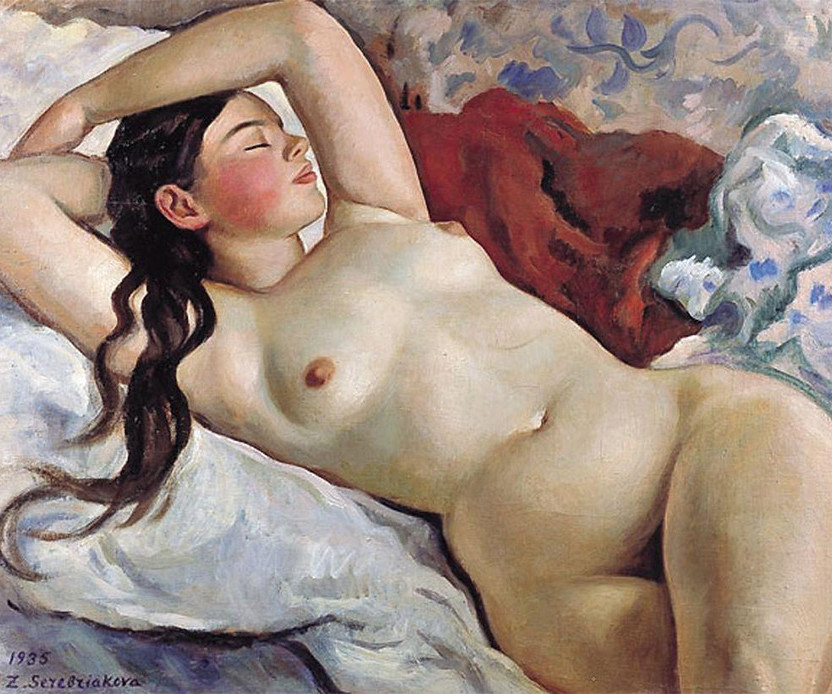 La mujer desnuda reclinada, 1935.