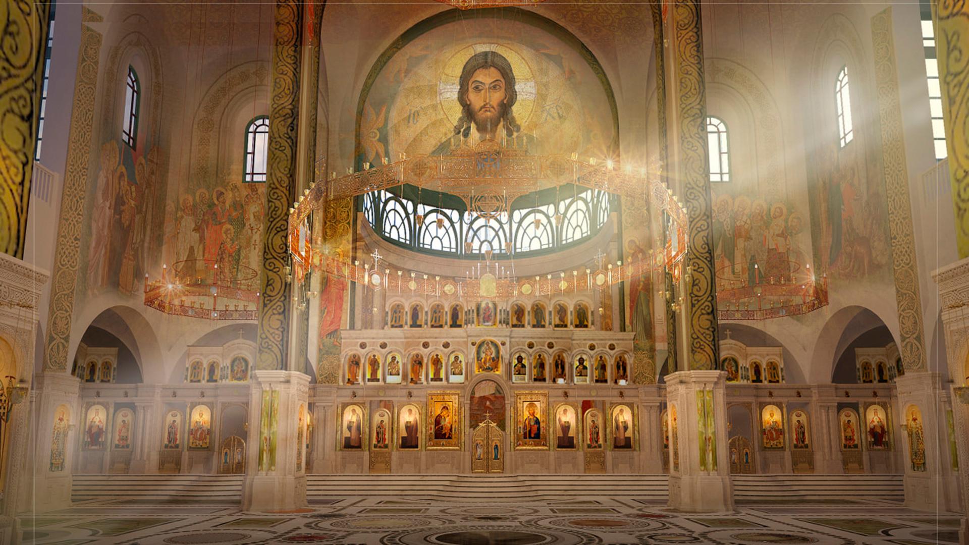 Projeto do interior de nova catedral