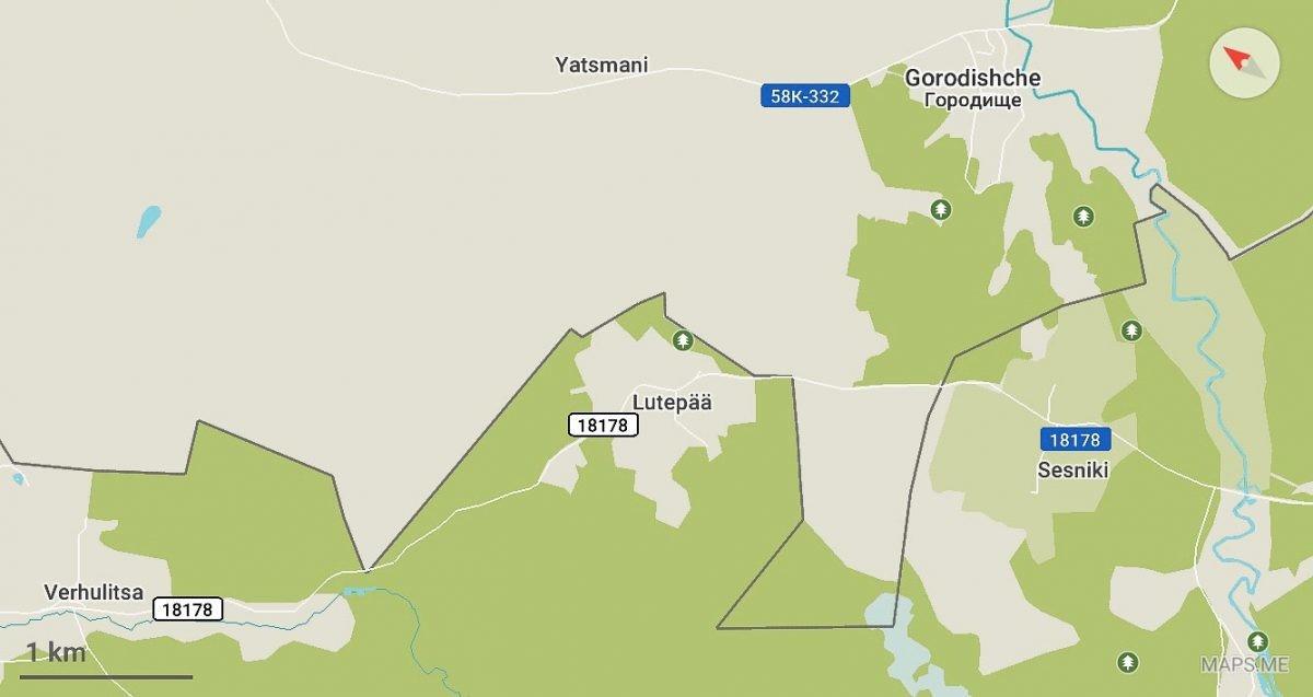 ルテピャヤ村の標識を通過した後も、同じ条件で、ロシア領をさらに50m走らなければならない。