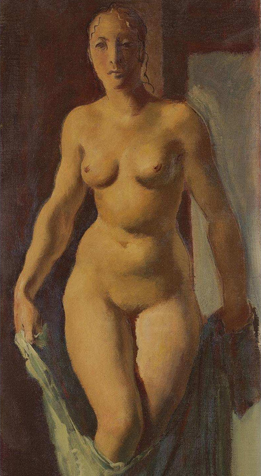 Александар Јаковљев (1887-1938): Нага девојка (1928).
