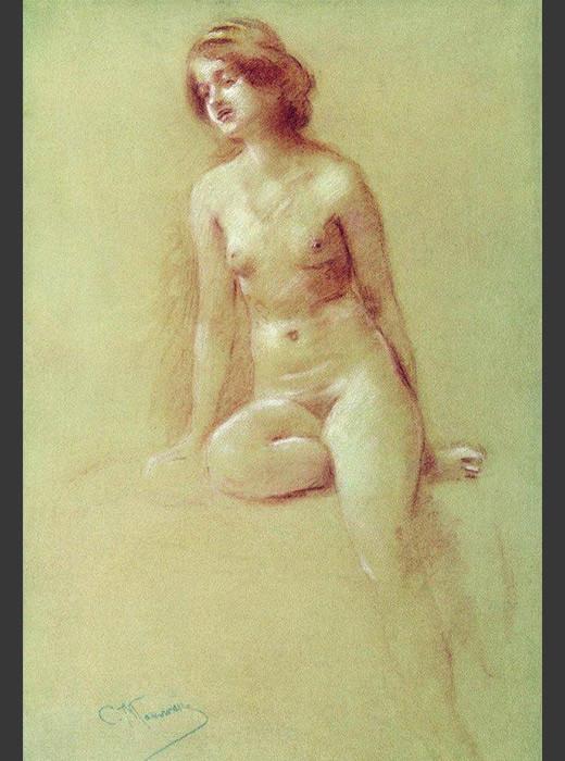 Константин Маковски (1839-1915): Наги модел.