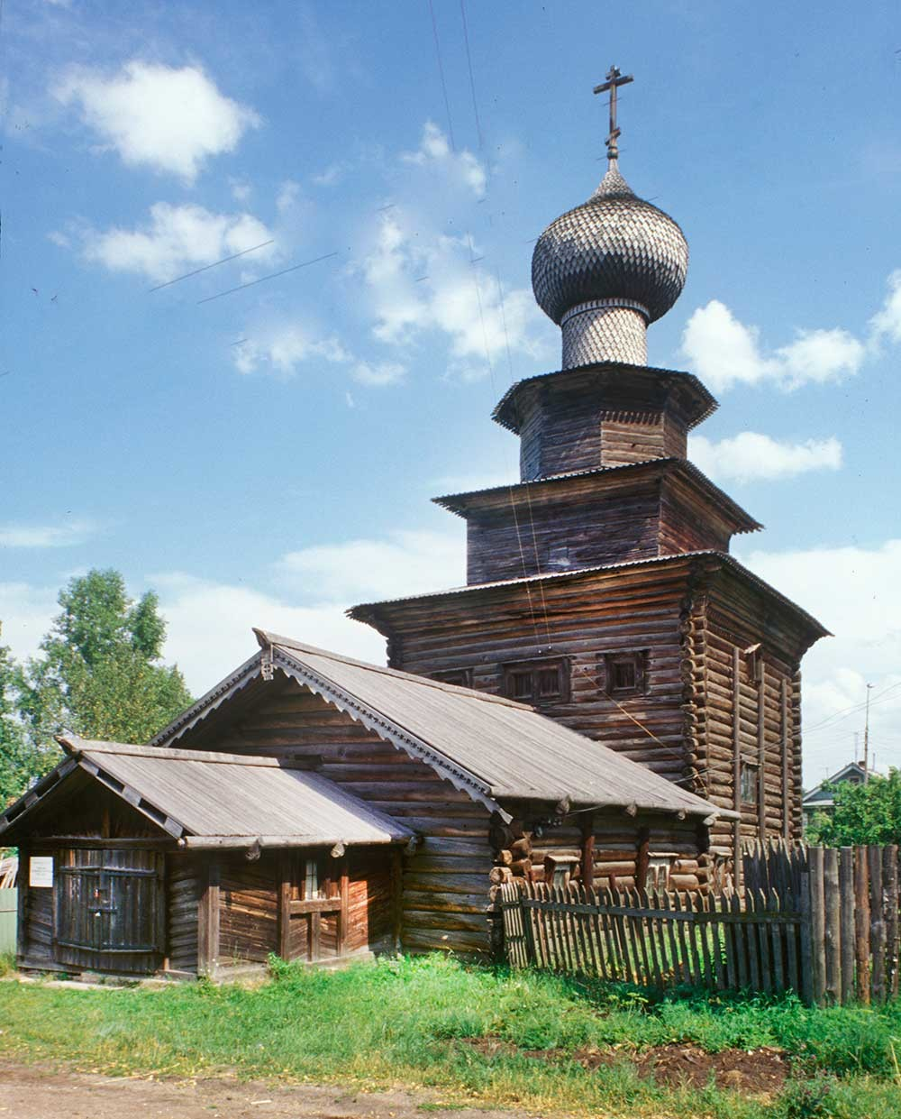 Church of the Prophet Elijah, southwest view. July 23, 1999.