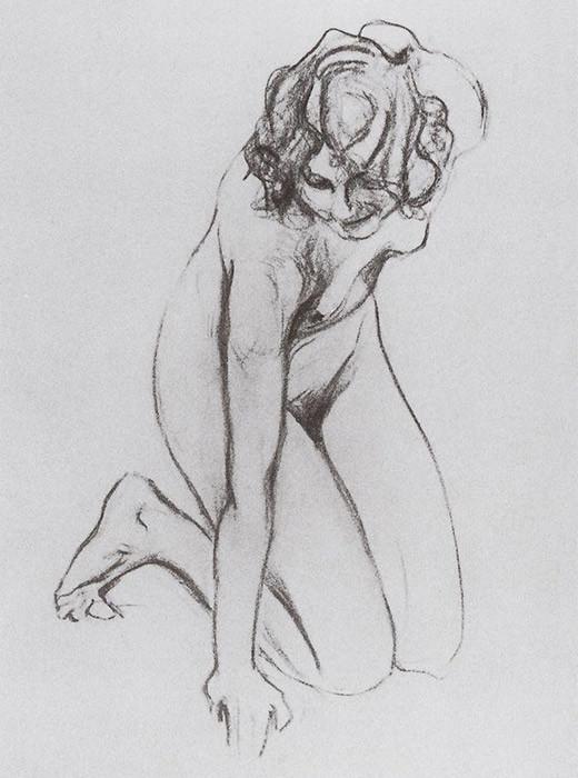 Valentin Serov (1865-1911): Gola ženska (1910)