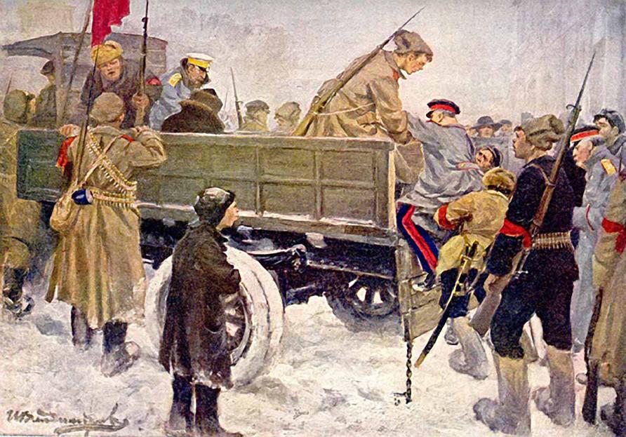 Aretacija carističnih generalov, avtor Ivan Vladimirov (1926)