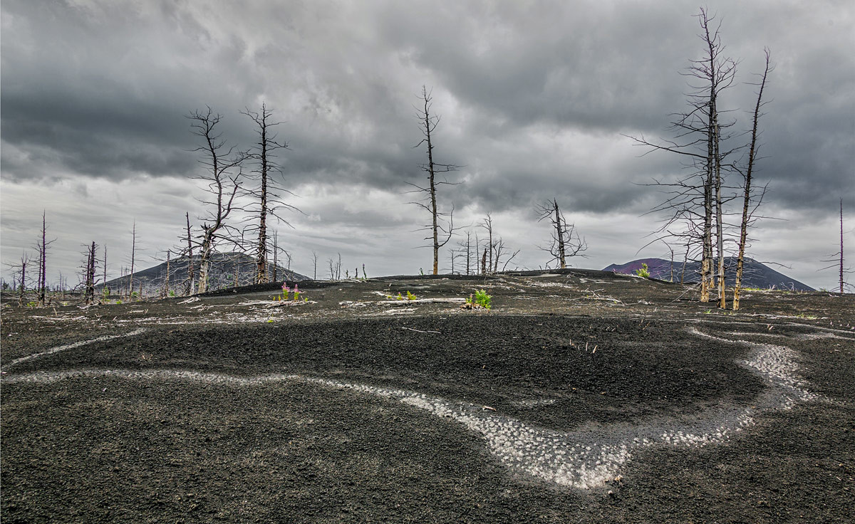 How the Devil's Graveyard may look (this is really a photo made in Kamchatka region after a volcanic eruption)