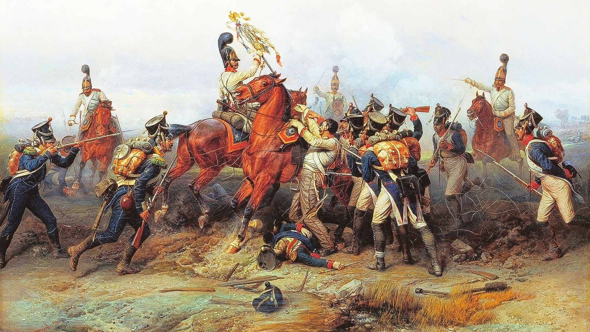 Feat of Cavalry Regiment at the battle of Austerlitz in 1805